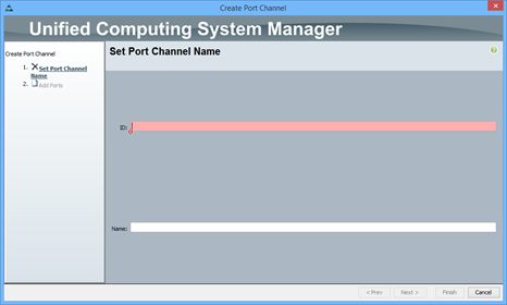 Creating Cisco UCS port channels and then assigning a VLAN